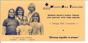 Prayer Card for 1976 Easter Newsletter