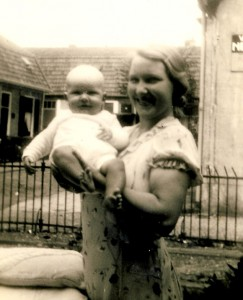 My Mother and I, seventy-nine years ago.